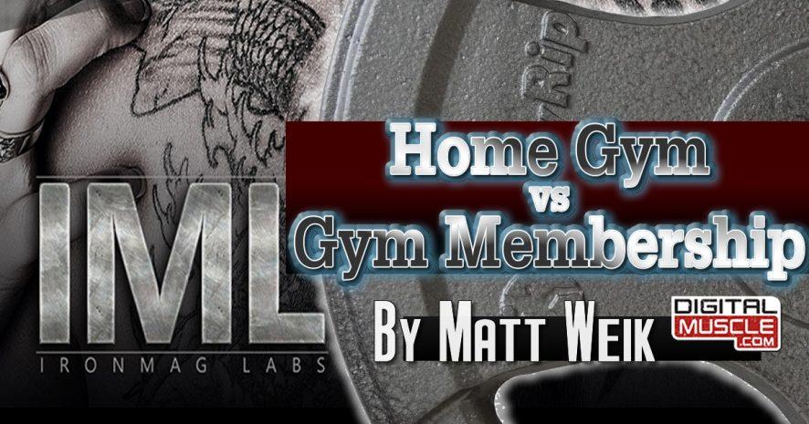 Gym membership vs home digitalmuscle